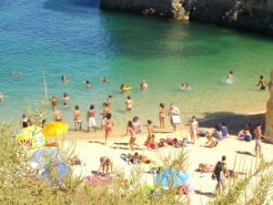 August in Lagos, Algarve.