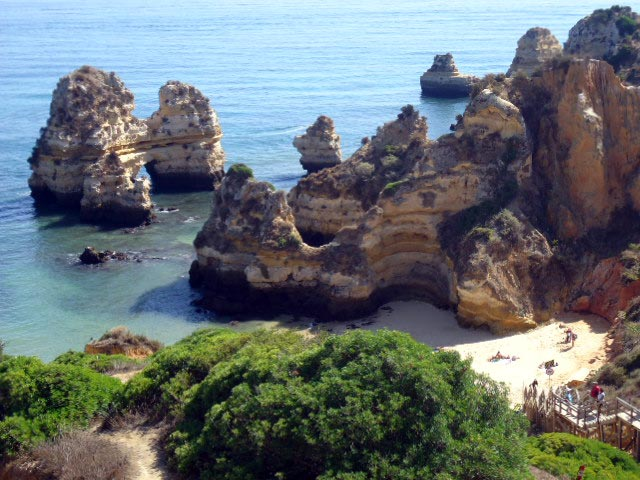 Strand Praia do Camilo, Lagos in Portugal